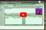 How to delete a donation item from a Silent Auction (video)