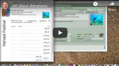 All about donations at a Silent Auction (video)