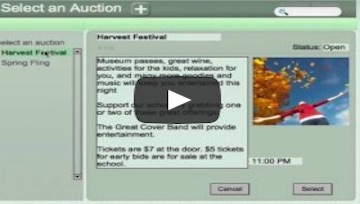 How to work with your libraries at a Silent Auction (video)