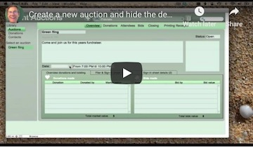 How to make a new donation for a Silent Auction (video)