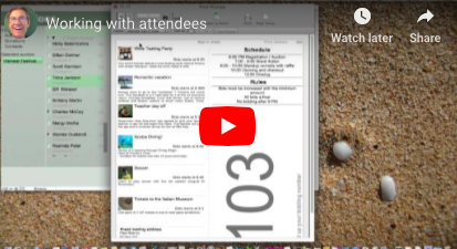 How to work with contacts and attendees at a Silent Auction (video)